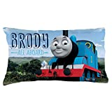 Personalized Thomas & Friends Pillowcase, All Aboard on Multicolor Cover, Official Licensed Product, 20x31, STD/Queen