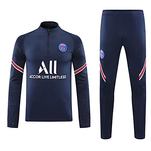 PUPPYY 20-21 Paris Soccer Sportswear, Chándal De Fútbol Unisex, Juego De Sudadera De Fútbol Transpirable, Traje De Fútbol, Regalo Deportivo XXL