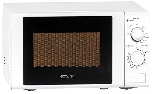 Exquisit Mikrowelle MW 802 G / 700 Watt/Grill 1000 Watt / 20L / Weiß