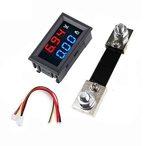 DollaTek 0.56 Pulgadas Azul Rojo Doble Pantalla LED Mini voltímetro Digital Amperímetro DC 100V 100A Panel Amp Voltaje Medidor de Corriente Probador