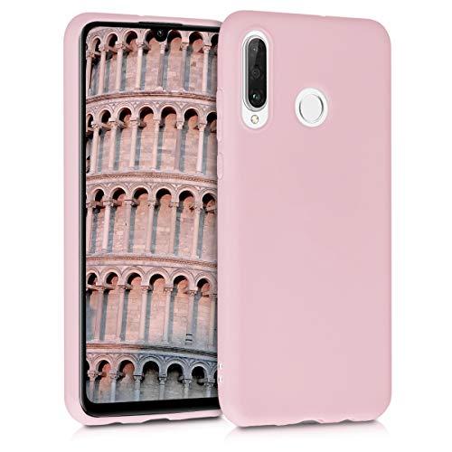kwmobile Hülle kompatibel mit Huawei P30 Lite - Handyhülle - Handy Case in Peach Skin