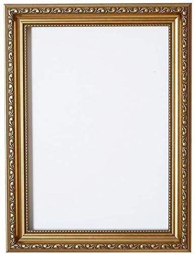 Verzierter Bilderrahmen im - Gold a2 - Shabby Chic B/Foto/Posterrahmen - Mit Rückwand MDF Platte - Mit einem bruchsicheren Plexiglas aus Styrol für hohe Klarheit