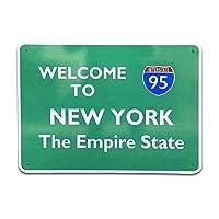 特別価格 トラフィック サイン ニューヨーク NEW YORK THE EMPIRE STATE 95-B 看板 道路標識 アメリカン雑貨
