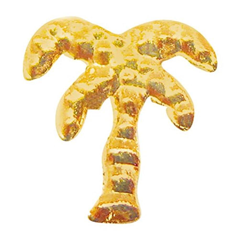 レザー不測の事態章サンシャインベビー ジェルネイル ヤシの木(ゴールド) 10P