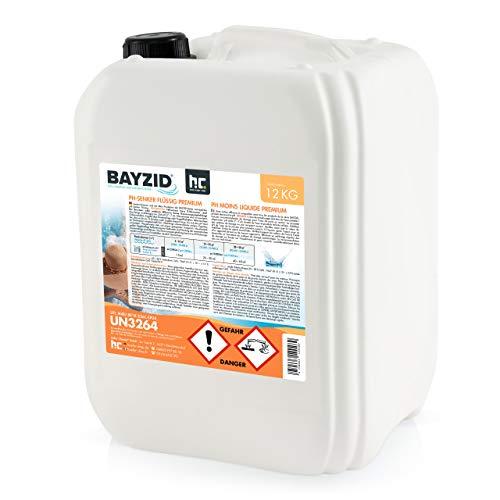 Höfer Chemie 2 x 12 kg BAYZID pH Senker Premium flüssig zur Senkung des pH Werts im Pool - pH Minus für Schwimmbad & Spa