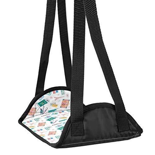 Repose-pieds avec motif Tour Eiffel Big Ben pour voyage en avion, bureau, repose-pieds de voyage, accessoires de voyage, hauteur réglable