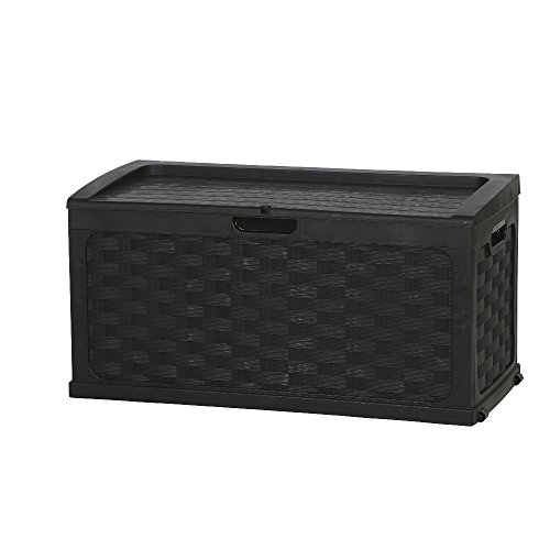 Starplast Storage Box/Box/Box Rattan Design * BLACK * approx. 117x 56x 56cm