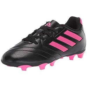 adidas Boy's Goletto VII FG J Football Shoe, core Black/Shock Pink/Shock Pink, 13K M US Little Kid