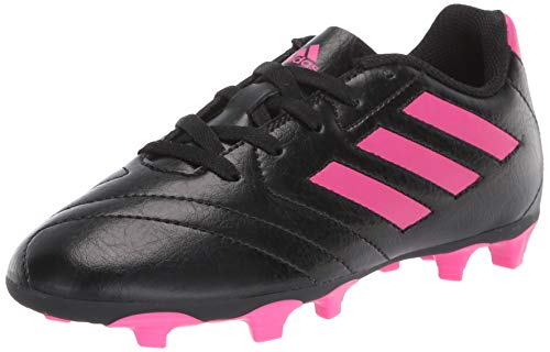 adidas boys Goletto Vii Fg J Football Shoe, Core Black/Shock Pink/Shock Pink, 12.5 Little Kid US