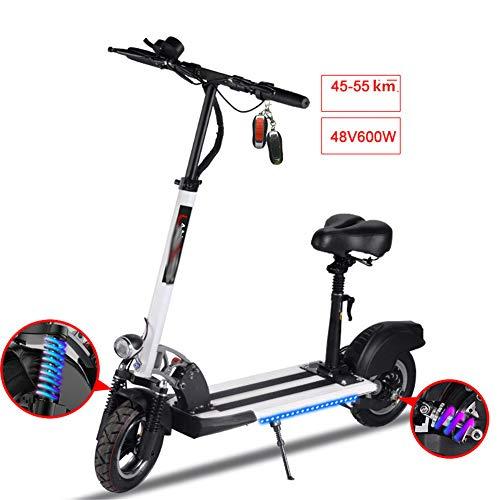 GLLYFDD Elektro Scooter klappbarer mit 55km Reichweite 600W Unisex Erwachsene bis zu 150kg Belastbar
