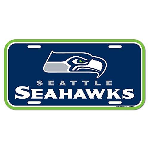 NFL Seattle Seahawks nummerplaat, teamkleur, één maat