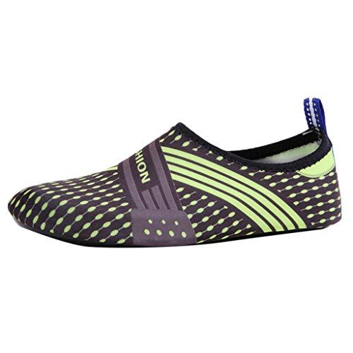 Luckhome Schuhe Sneakers Damen Sneaker Schuhe Damen Sneaker Sportschuhe Damen Damenschuhe Sommer Outdoor Paar Wohnungen Strand Pool Meer Schwimmen Surf Soft Bottom Water Shoes(Grün,EU:41-42)