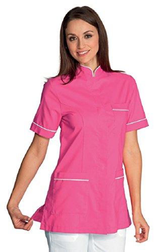 Isacco blouse Panarea wit + fuchsia, maat XL, 65% polyester 35% katoen