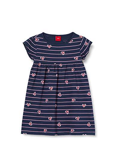 s.Oliver Junior Mädchen 403.12.005.20.200.2020275 Kinderkleid, 57A0 Blue AOP, 104 REG