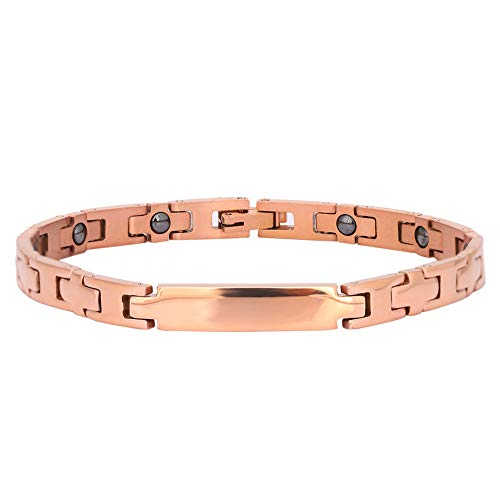Lv. life Slimming Magnetic Bracelet, Healthy Magnetic Therapy Bracelets Titanium Copper Therapy Magnetic Pain Relief Bracelets Bracelet for Men Women