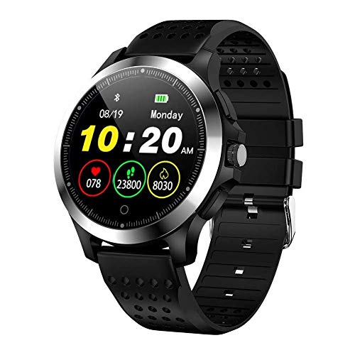 Reloj inteligente de moda W8 Sports Smart Watch, Ip67 impermeable con ECG+PPG Monitor de frecuencia cardíaca, reloj de pulsera para Android 4.4, Ios8.0, soporte para Bluetooth 4.0 exquisito (color: B)