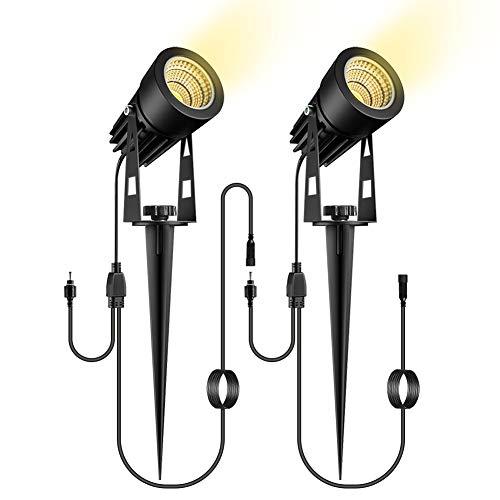 Gartenbeleuchtung 2 Pack, ECOWHO Verlängerungsgartenlichter mit 3m Kabel für ECOWHO Upgrade Gartenbeleuchte Set(enthält keinen Stecker)