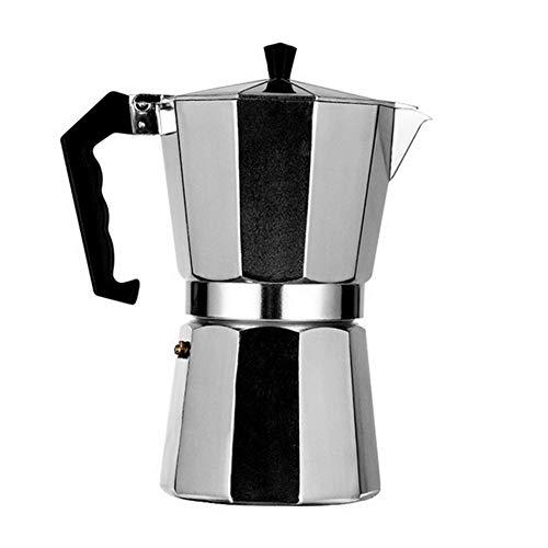 AWANG Olla De Aluminio Moka, Cafetera para Expreso En La Estufa, Cafetera Italiana Clásica, Cafetera con Tapa para Estufa, Cafetera Expreso, Mocha Cafetera, Apto Placa De Inducción (600ML)