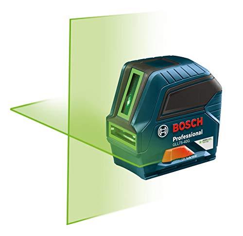 Bosch 75' Green-Beam Self-Leveling Cross-Line Laser GLL75-40G (Renewed)