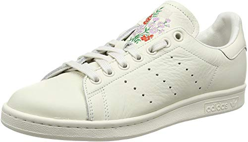 adidas Stan Smith M, Scarpe da Ginnastica Uomo, Footwear White Core White Green, 38 2/3 EU