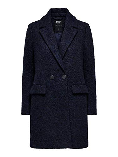 Only Onlally Boucle Wool Coat CC Otw Cappotto, Blu (Peacoat Detail: Melange), XS Donna