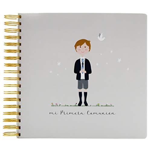 SUSIKO Álbum Primera Comunión Niño, Color Gris Cálido, Medidas 24 x 23 x 3.4 cm, Peso 560 gr