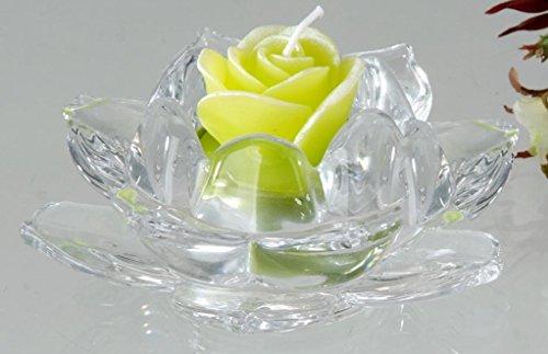 Teelichtleuchter Rose aus Klarglas 11 cm Teelichthalter Kerzenhalter formano deko
