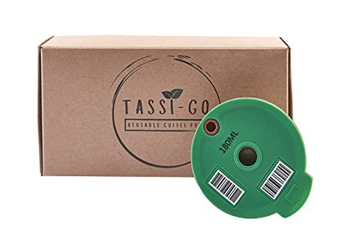 TASSI-GO wiederverwendbare Kaffeekapsel - nachfüllbarer Kaffeefilter | nachhaltige Mehrwegkaffeekapsel | für Bosch-s Tassimo-Maschinen – 180 ml