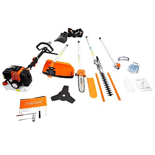 classement un comparer Thermal multi-function tool CHESTER4-in-1: Chainsaw cutter, brush cutter, etc.
