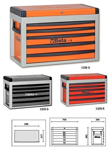 Beta C23S-r E Tragbarer Werkzeugkasten, rot
