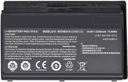W370BAT-8 Battery for Clevo W350ET W350ETQ W370ET Schenker XMG A503 A522 A722 Gigabyte P2742 Hasee K650S-i7 K590S K650C K750S Series 6-87-W370S-427 6-87-W370S-4271 6-87-W37SS-427 6-87-W37SS-4271