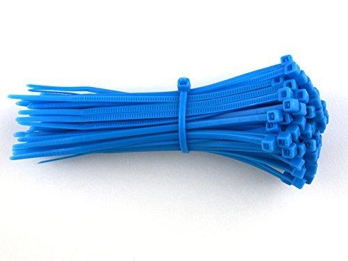Gocableties Nylon-Kabelbinder, Blau, 300mm x 4,8mm,hochwertig, robust, 100 Stück