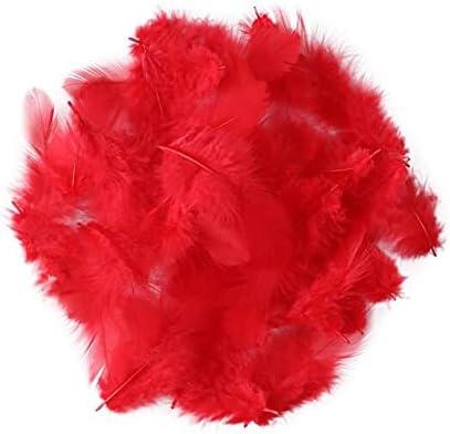 Jeniorr 50pcsMarabou Feather Float Fashionable inc Dedication Turkey 3-4 8-10CM
