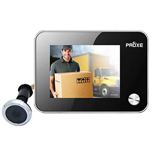 Proxe 365040 Spioncino Digitale Silver con Funzione Foto e Video, Nero