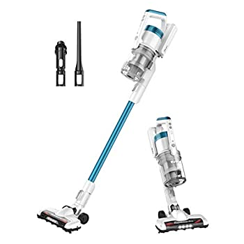 Eureka RapidClean Pro Lightweight Cordless Vacuum Cleaner High Efficiency Powerful Digital Motor LED Headlights Convenient Stick and Handheld Vac Essential White