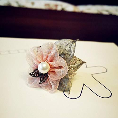 Kopfschmuck Blätter Blumen Perlenstoff Pullovermantel Trenchcoat Brosche Corsage Kragen Blumen sind geeignet für Damen und Kinder. Geschenk