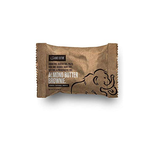 Base Culture Almond Butter Brownie | 100% Paleo | No Added Sugar | Free of Gluten, Grain, Dairy, and Soy | 6g Protein, 2 Ounce (Pack of 10)