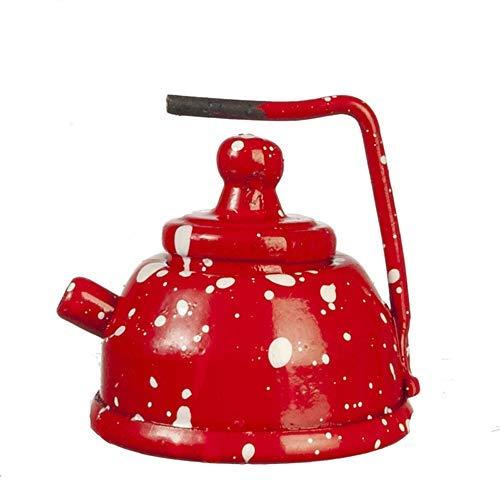Melody Jane Puppenhaus Rot Spot Wasserkocher Metall Küche Zubehör 1:12 Maßstab