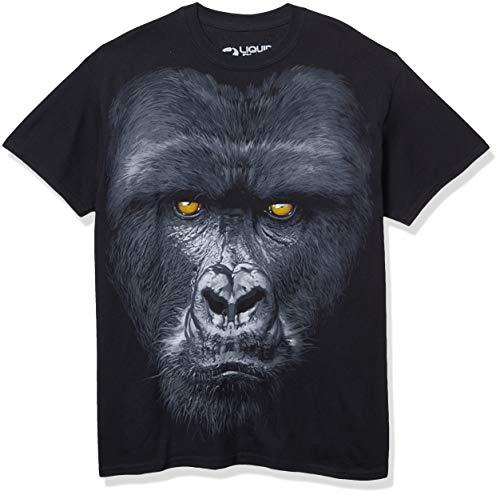 Liquid Blue Men's Majestic Gorilla T-Shirt, Black, X-Large