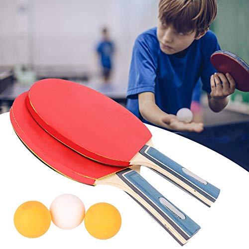 Rakietka do tenisa stołowego 2 rakiety 3 piłki dla początkujących uczniów Zestaw do ping-ponga