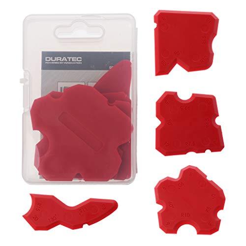 Ontracker 4 piezas de silicona sellador herramienta de acabado de ángulos, rasqueta de vidrio y sellador