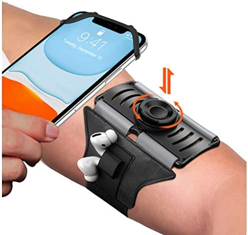 VUP Upgraded Running Armband Detachable 360 Rotation with AirPods AirPods Pro Holder Phone Armband product image