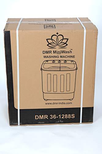 DMR 3.6 kg Inverter Mini Twin Tub Portable Semi-Automatic Top Loading Washing Machine, Spin Capacity 2Kg (DMR 36-1288S, Blue)