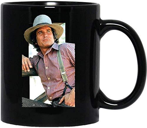 N\A Charles Ingalls Michael Landon kleines Haus in der Wiese Bonanza Westernbecher mit Griff, isolierte Wiederverwendbare Kaffeetasse aus Keramik, Kaffee-Reisebecher