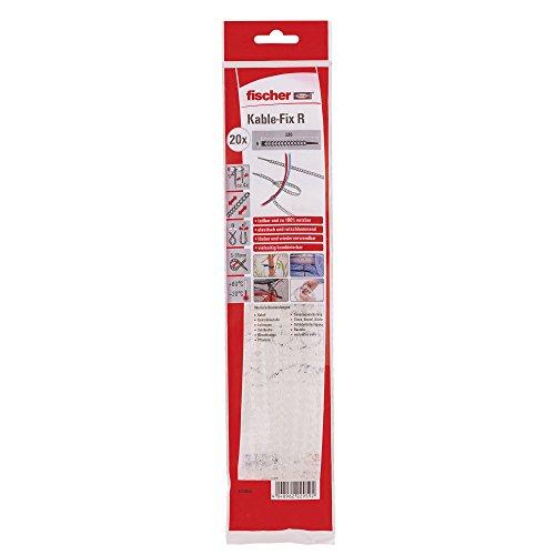 Fischer 533858 Kabelbinder KableFix R transparent, 20 Stück