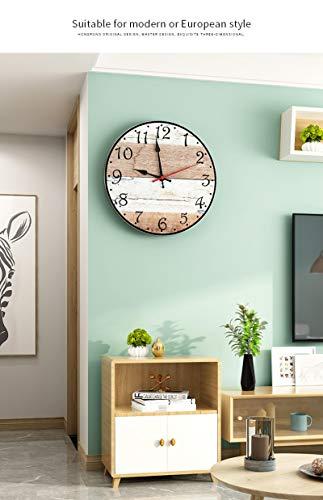 HAODGUO Meisd Rústico relógico de Parede impressão cores pendurado arte cartaz do setas vintage setas relógico em Round decoração casa horloge retro frete grátis