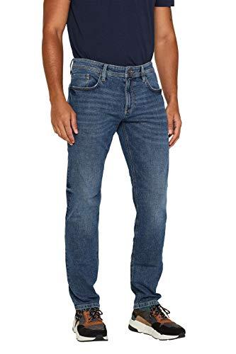 edc by ESPRIT Herren 089Cc2B007 Straight Jeans, Blue Medium Washed, 32W / 32L