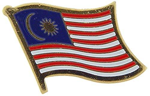 Malaysia-Flagge 2,5 cm Metall Revers & Hutnadel