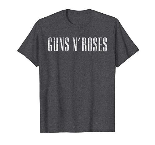 Guns N' Roses Licensed Text Logo T-Shirt, Men or Women, S to 3XL