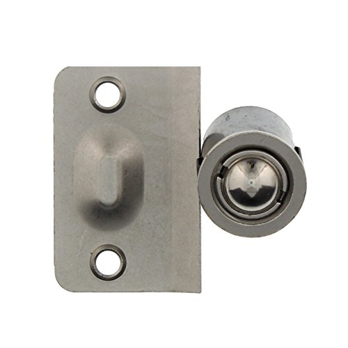 Elba Product Closet Door Ball Catch Drive-in with Catch (Strike Plate), Door Hardware in Satin Nickel, Durable Simple Installation (1 Pack)